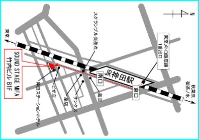 神田SOUND STAGE MIFAへの行き方アクセス地図