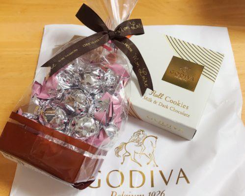 差し入れでいただいたGODIVAのチョコレート
