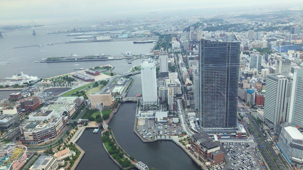 横浜ロイヤルパークホテル最上階シリウスからの景色