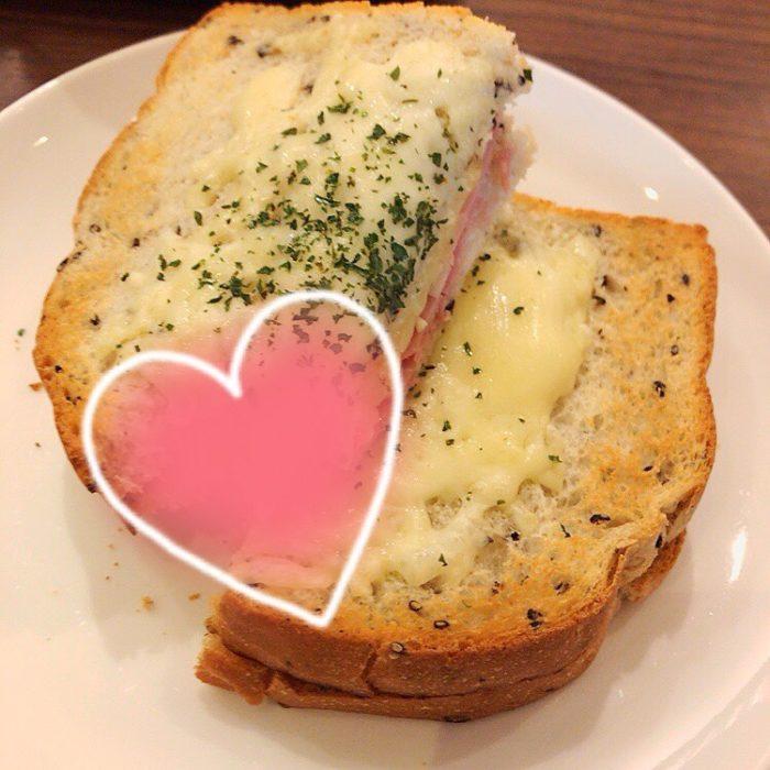上島珈琲店のクロックムッシュ