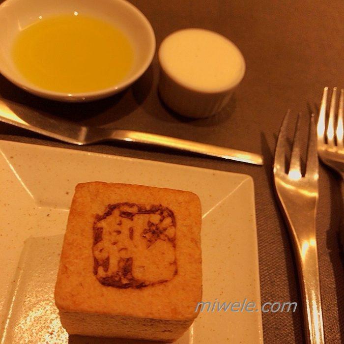 にき亭のトウモロコシパンとローズマリークリーム